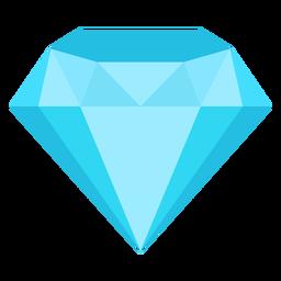 Preciosa piedra preciosa diamante icono plana