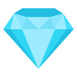 Precious gemstone diamond flat icon
