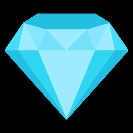 Preciosa piedra preciosa diamante icono plana Transparent PNG