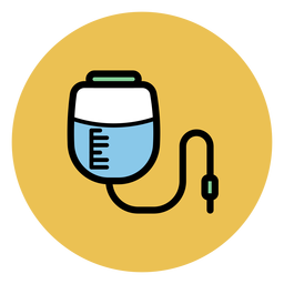 Pressure infusion bag icon