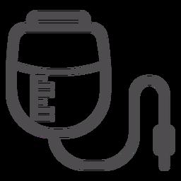 Ícone do traçado do saco de infusão de pressão