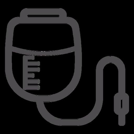 Ícone do traçado do saco de infusão de pressão Transparent PNG
