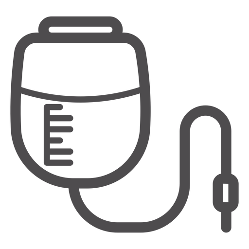 Pressure infusion bag stroke icon Transparent PNG