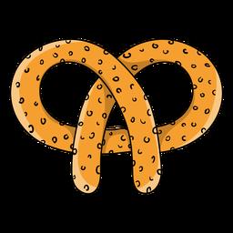 Dibujos animados de pretzel