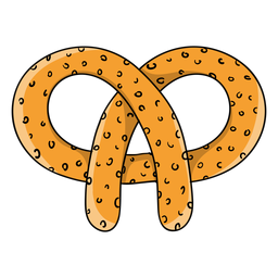 Pretzel cartoon