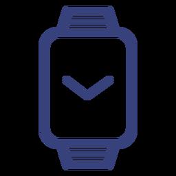 Ícone de traço de relógio retângulo