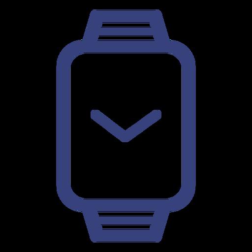 Rectángulo icono de trazo de reloj Transparent PNG