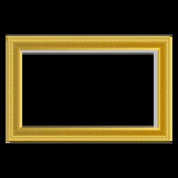 Marco rectangular de oro