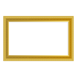 Rectangular golden frame