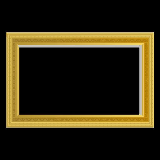 Rectangular golden frame
