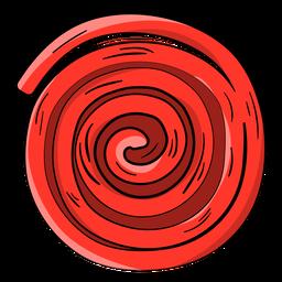 Desenho de roda ricolice vermelho