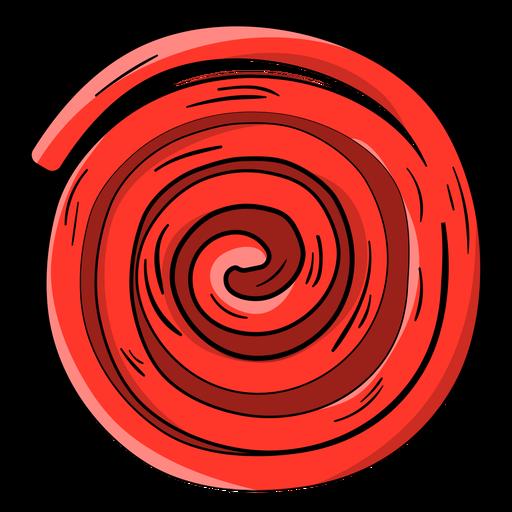 Desenho de roda ricolice vermelho Transparent PNG