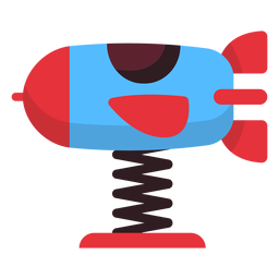 Icono de jinete de primavera cohete