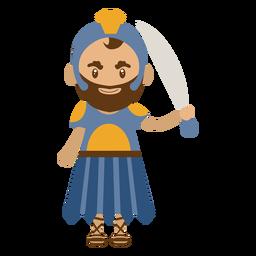 Ilustración de personaje romano
