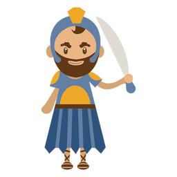 Roman character illustration