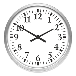 Round clock illustration