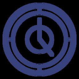Runde Uhr Schlaganfall-Symbol