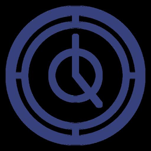 Ícone de traçado de relógio redondo Transparent PNG