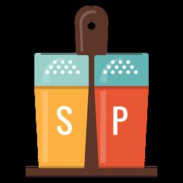 Sal e pimenta ícone