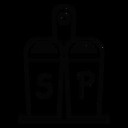 Icono de trazo de sal y pimienta