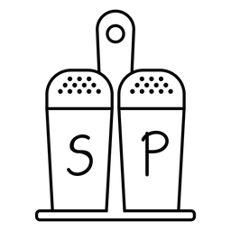 Salt and pepper stroke icon