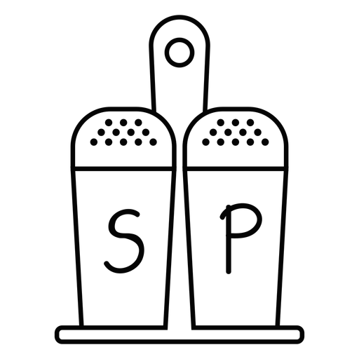 Salt and pepper stroke icon Transparent PNG