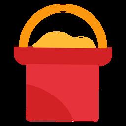 Icono de cubo de arena