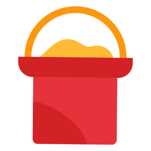 Sand Bucket Icon Transparent PNG
