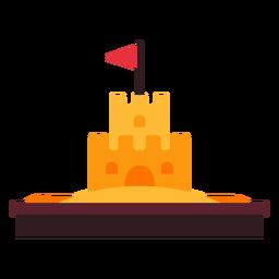 Icono de castillo de arena