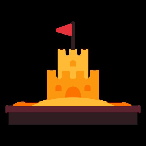 Ícone do castelo de areia Transparent PNG