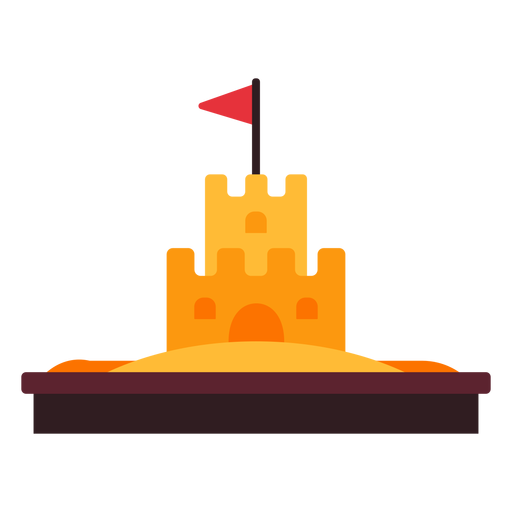 Icono de castillo de arena Transparent PNG