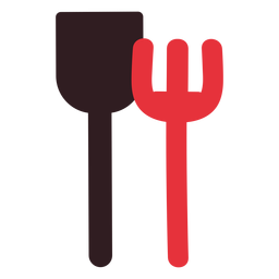 Sand shovel and rake icon