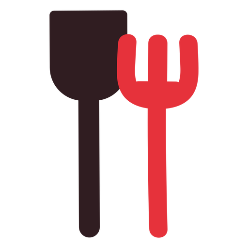 Sand shovel and rake icon Transparent PNG