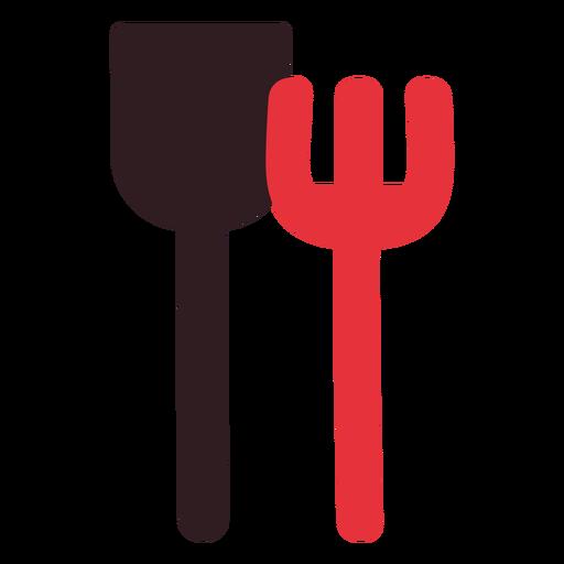 Sand shovel and rake icon