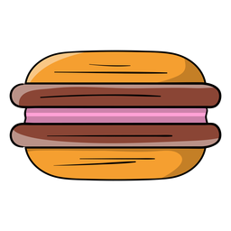 Sandwich biscuit cartoon