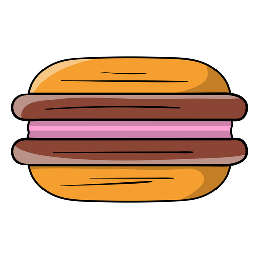 Sandwich biscuit cartoon Transparent PNG