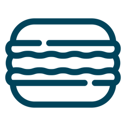 Sandwich biscuit stroke icon