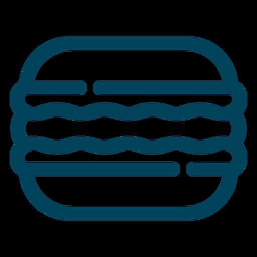 Icono de trazo de galleta sándwich Transparent PNG
