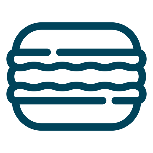 Sandwich biscuit stroke icon Transparent PNG