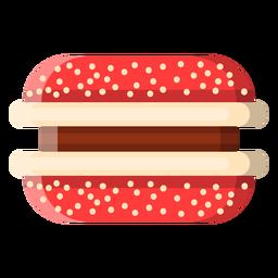 Icono de galleta de sándwich