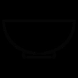 Icono de trazo de tazón de servicio