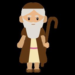 Ilustración de personaje de pastor