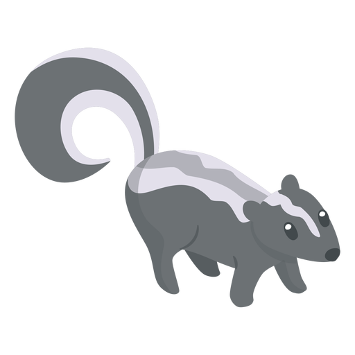 Skunk animal cartoon Transparent PNG