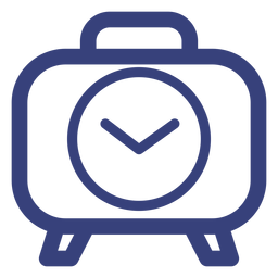 Snooze alarm clock stroke icon