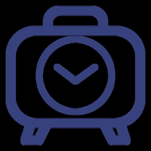 Snooze alarm clock stroke icon Transparent PNG