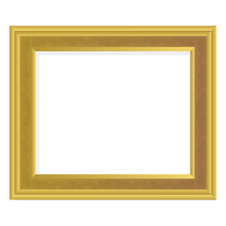 Solid golden frame