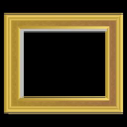 Solider goldener Rahmen