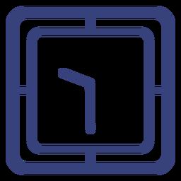 Icono de trazo de reloj cuadrado