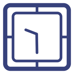 Square clock stroke icon