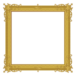 Quadratischer goldener Rahmen